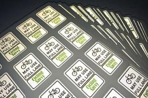 Tearablt Acrylic Reflective sticker