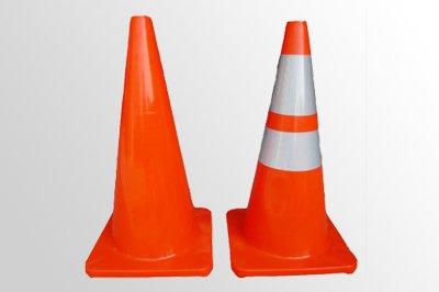 Traffic cone sticker