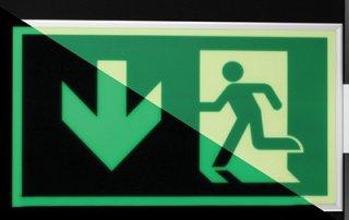 Plotter-cutting-EXIT-signage glow in dark