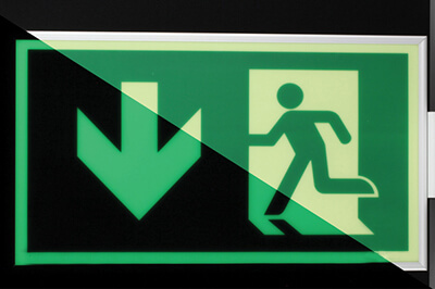 Plotter-cutting-EXIT-signage glow in dark