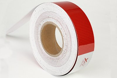 Conspicuity Tape pre-striped barricade sheeting
