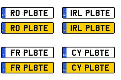 Retroreflective european number plates films XW 7201