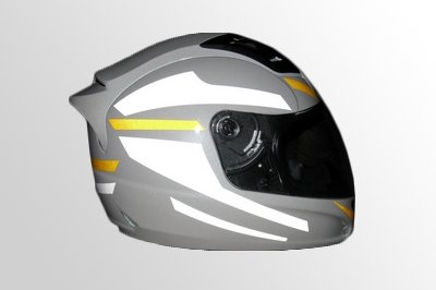Personal safety helmet visible sticker