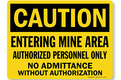 5100 refective Mining signs