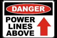 Power signage Warning