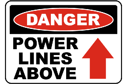 Power signage Warning