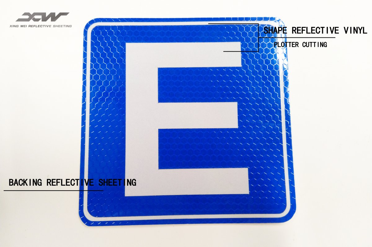Plotter Cuting traffic sign Reflective Sticker
