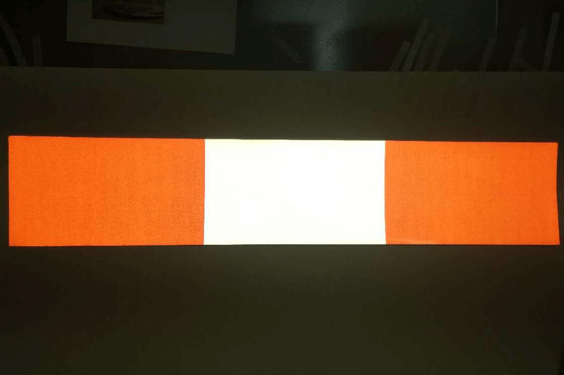 reflective barricade strip