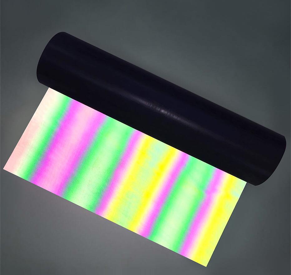 Rainbow reflective htv vinyl