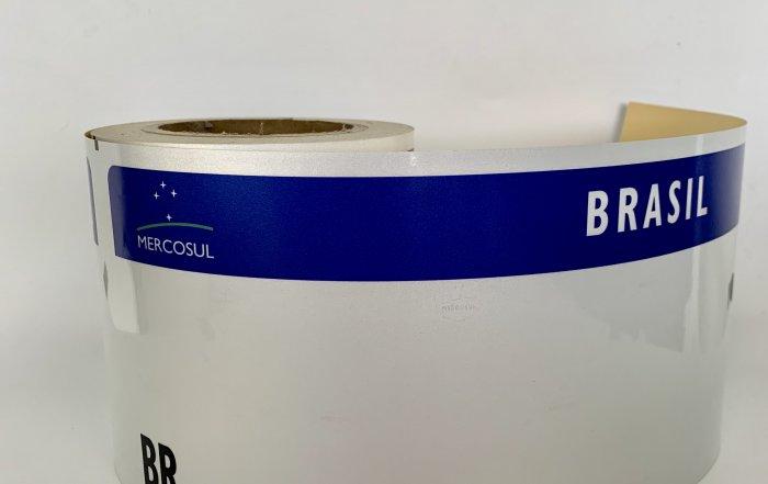 brazil mercosur license plate reflective sheeting
