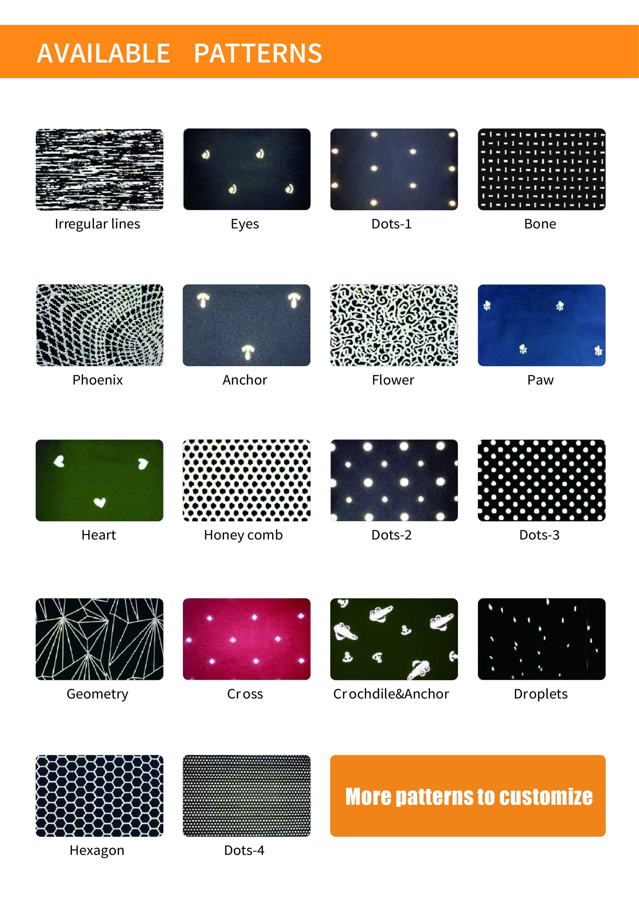 printed reflective fabric
