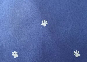 printing reflective fabric paw pattern
