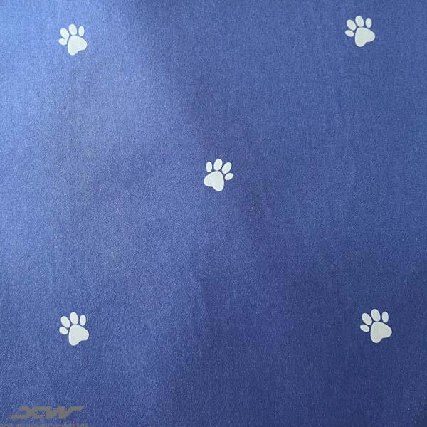 printing reflective fabric paw pattern