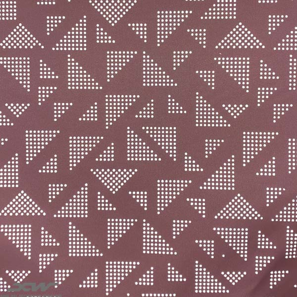 printing reflective fabric pink triangle