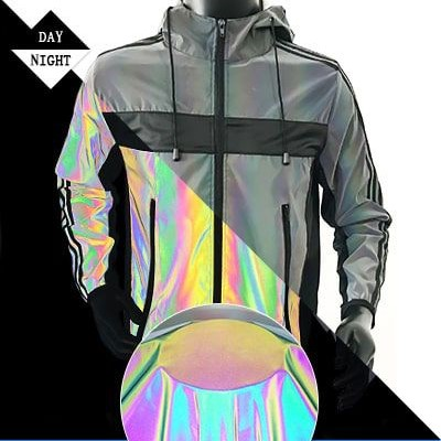 rainbow reflective fabric for clothing